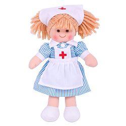 Bigjigs Látková bábika zdravotná sestrička Nancy - 25 cm