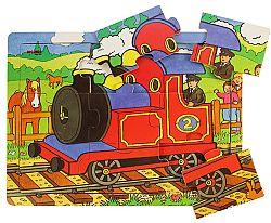 Bigjigs Puzzle Vlak - 9 dielikov