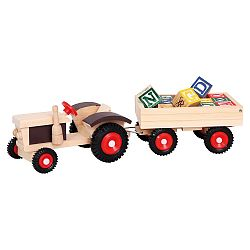 Bino Traktor s gumovými kolesami a vle