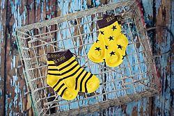 Blade & Rose Chlapčenské ponožky s hviezdičkami a prúžkami, 2 páry, 1-2 roky
