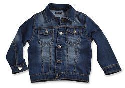 Blue Seven Chlapčenská džínsová bunda - tmavo modrá, 116 cm