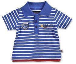 Blue Seven Chlapčenské pruhované polo tričko - tmavo modré, 62 cm