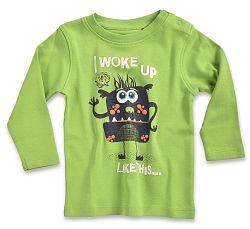 Blue Seven Chlapčenské tričko Aj woke up - zelené, 62 cm