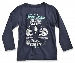 Blue Seven Chlapčenské tričko College - tmavo modré, 92 cm