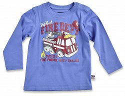 Blue Seven Chlapčenské tričko Fire dept - modré, 62 cm