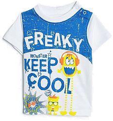 Blue Seven Chlapčenské tričko Freaky - biele, 62 cm