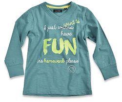Blue Seven Chlapčenské tričko Fun - zelené, 110 cm