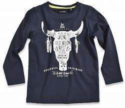 Blue Seven Chlapčenské tričko s býkom - modré, 116 cm