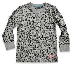 Blue Seven Chlapčenské tričko s potlačou - šedé, 128 cm