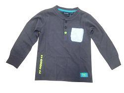 Blue Seven Chlapčenské tričko s vreckom- tmavo šedé, 110 cm