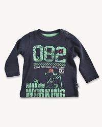 Blue Seven Chlapčenské tričko so psíkom - čierne, 56 cm