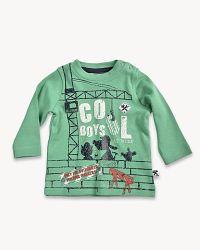 Blue Seven Chlapčenské tričko so žeriavom - zelené, 68 cm