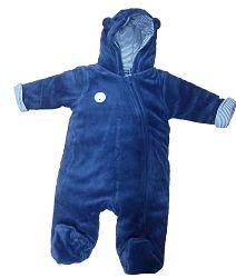 Blue Seven Chlapčenský hrejivý overal - modrý, 56 cm