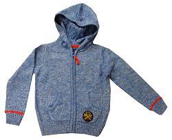 Blue Seven Chlapčenský žíhaný sveter - modrý, 128 cm
