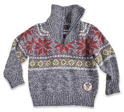 Blue Seven Chlapčenský žíhaný sveter - šedý, 68 cm