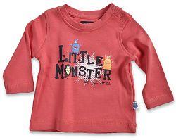 Blue Seven Detské tričko Little monštier - červené, 62 cm