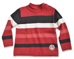 Blue Seven Detský pruhovaný sveter - červený, 62 cm