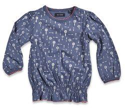 Blue Seven Dievčenská tunika s potlačou - modrá, 68 cm