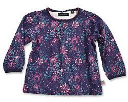 Blue Seven Dievčenské kvetované tričko - farebné, 74 cm