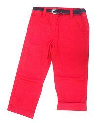 08c2f227ca62 Blue Seven Dievčenské nohavice s opaskom - červené