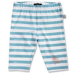 Blue Seven Dievčenské pruhované capri nohavice - modro-biele, 80 cm