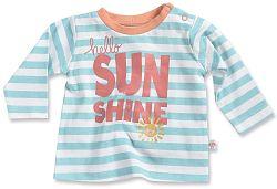 Blue Seven Dievčenské pruhované tričko so slniečkom - modro-biele, 56 cm