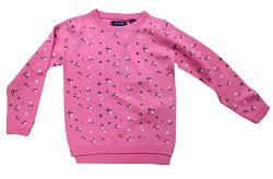 Blue Seven Dievčenské sveter s kvietkami - ružový, 128 cm