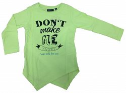 Blue Seven Dievčenské tričko Angry - zelené, 104 cm