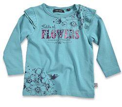 Blue Seven Dievčenské tričko Flowers - modré, 68 cm