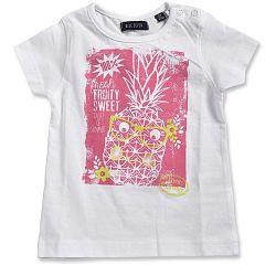 Blue Seven Dievčenské tričko s ananásom - biele, 68 cm