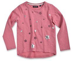 Blue Seven Dievčenské tričko s hviezdičkami - ružové, 92 cm