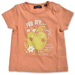 Blue Seven Dievčenské tričko s jabĺčkom - oranžové, 74 cm