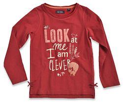 Blue Seven Dievčenské tričko s líškou - červené, 128 cm