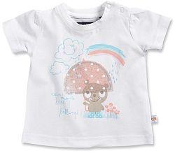Blue Seven Dievčenské tričko s mráčikov - biele, 62 cm