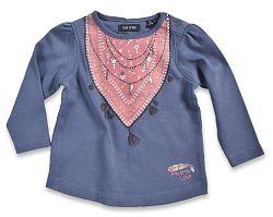 Blue Seven Dievčenské tričko s náhrdelníkom - modré, 62 cm