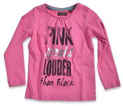 Blue Seven Dievčenské tričko s nápisom - ružové, 104 cm