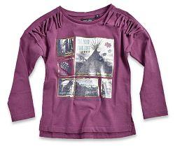 Blue Seven Dievčenské tričko s obrázkami - tmavo ružové, 122 cm