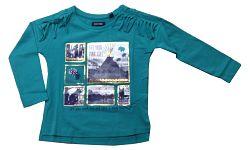 Blue Seven Dievčenské tričko s obrázkami - zelené, 116 cm