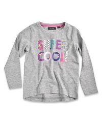 Blue Seven Dievčenské tričko Super cool - šedé, 110 cm