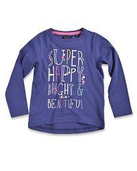 Blue Seven Dievčenské tričko Super happy - fialové, 116 cm
