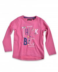 Blue Seven Dievčenské tričko Think big - ružové, 122 cm