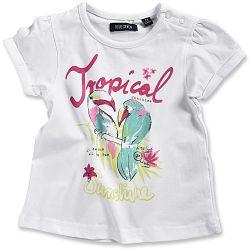 Blue Seven Dievčenské tričko Tropical - biele, 80 cm