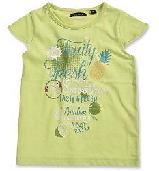 Blue Seven Dievčenské tričko - žltozelené, 110 cm