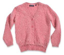 Blue Seven Dievčenský chlpatý sveter - ružový, 110 cm