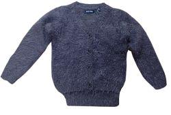 Blue Seven Dievčenský chlpatý sveter - tmavo šedý, 122 cm
