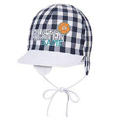 Broel Chlapčenská kockovaná čiapka - čierno-biela