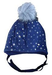 Broel Dievčenská čiapka Delfi - modrá, 47 cm