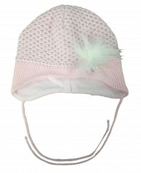 Broel Dievčenská čiapka Kind Girl - biela, 43-45 cm