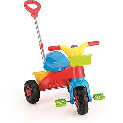 Buddy Toys Šliapacia plastová trojkolka s vodiacou tyčou