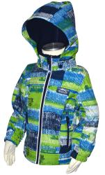 Bugga Chlapčenská funkčná softshellová bunda - modrozelená, 110 cm